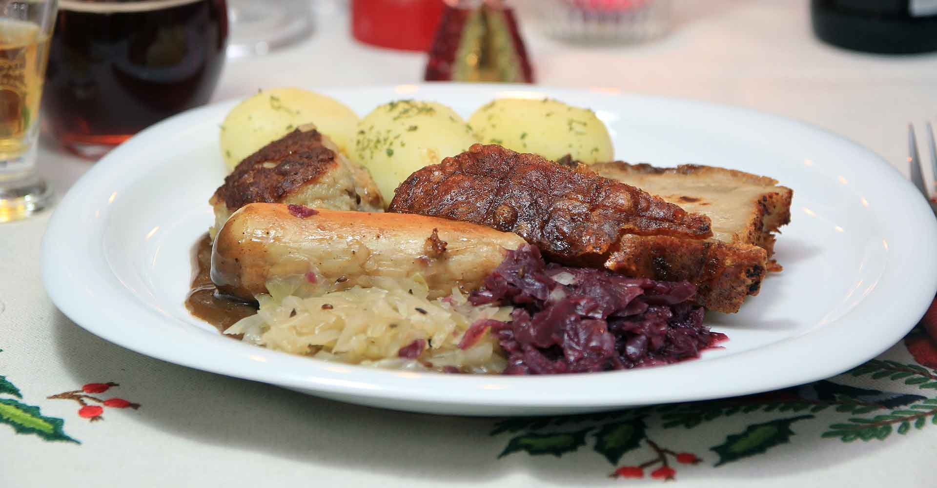 picture of a plate of norwegian christmas food